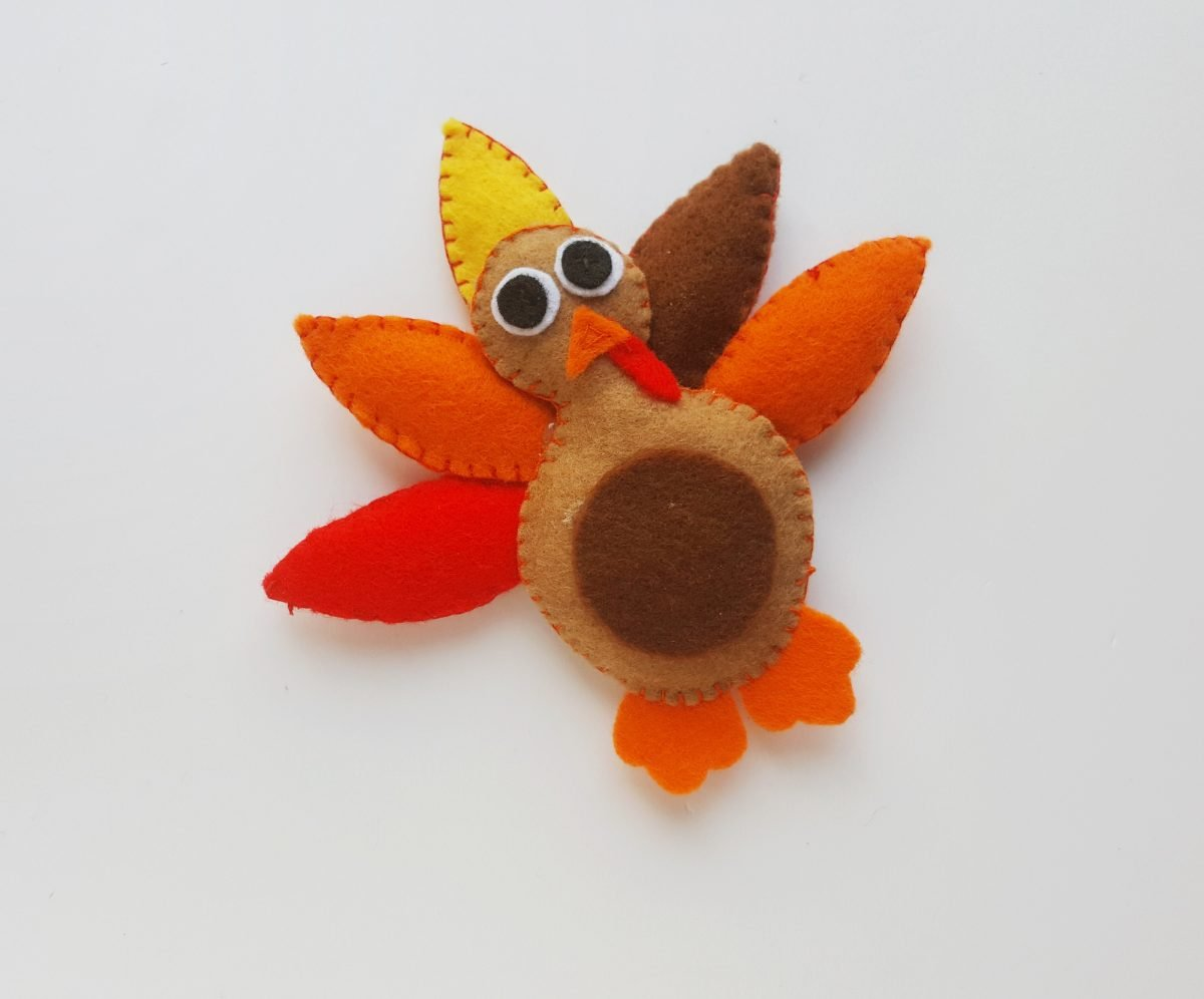 Felt Turkey Thanksgiving Crafts For Kids