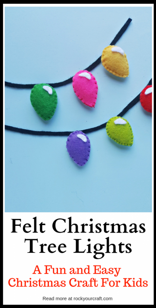 When you want easy Christmas crafts for kids that are fun, builds dexterity, and can be utilized over and over... these felt Christmas tree lights are just the thing!