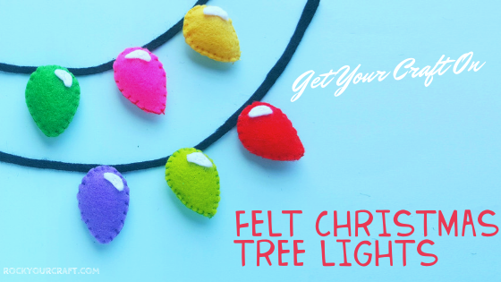 Easy Christmas Crafts For Kids – Felt Christmas Lights